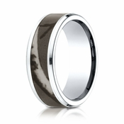 Benchmark 8mm Cobalt Chrome Ring with Tree Inlay