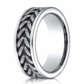 Benchmark 8mm Cobalt Chrome Ring with Zipper Design