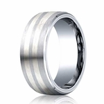 Benchmark 8mm Comfort Fit Cobaltchrome Ring with Beveled Edges