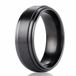 Benchmark 8mm Dual Finish Titanium Double Edge Ring