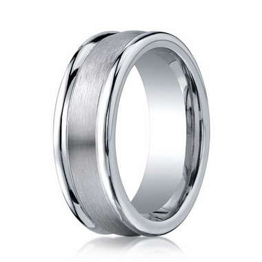 Benchmark 8mm Round Cobalt Chrome Ring with Ridged Edges