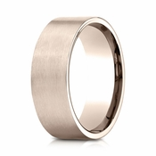 Benchmark 8mm Satin 14K Rose Gold Ring