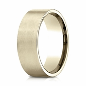 Benchmark 8mm Satin 14K Yellow Gold Ring