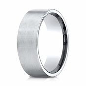 Benchmark 8mm Satin 18K White Gold Ring