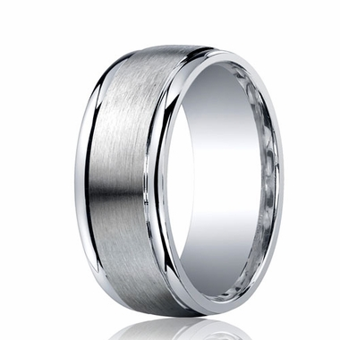 Benchmark 9mm ARGO Silver Comfort Fit Ring with Polished Edges