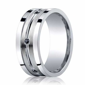 Benchmark 9mm ARGO Silver Ring with 6 Stone Black Diamonds