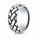 Benchmark 9mm Cobalt Chrome Ring with Blackened Tread