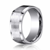 Benchmark 9mm Dual Finish Titanium Square Ring