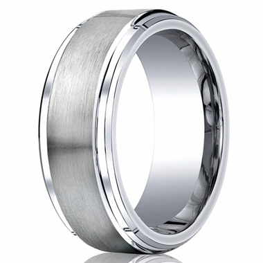 Benchmark 9mm Flat Cobalt Chrome Ring with Polished Sides