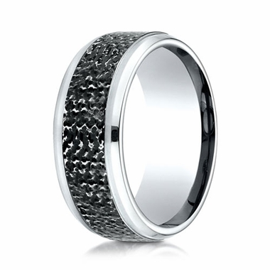 Benchmark 9mm Micro Hammered Cobalt Chrome Ring