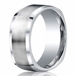 Benchmark 9mm Square Cobalt Chrome Ring with Polished Sides