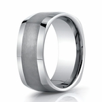 Benchmark 9mm Square Tungsten Ring with Polished Sides
