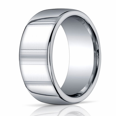 Benchmark Argentium Silver 10mm Polished Round Profile Band