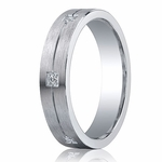 Benchmark Argentium Silver 5mm Pave Set 6-Stone Diamond Band (.12ct)