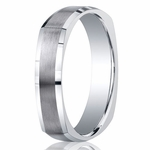Benchmark Argentium Silver 5mm Square Profile Band with Polished Edges