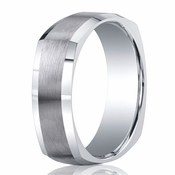 Benchmark Argentium Silver 7mm Square Profile Band with Polished Edges