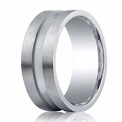 Benchmark Argentium Silver 9mm Satin Center Channel Band
