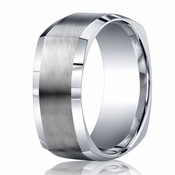 Benchmark Argentium Silver 9mm Square Profile Band with Polished Edges