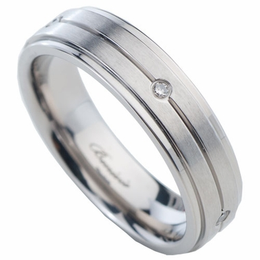 Benivie 6mm Titanium Diamonds (5) Ring with Step Edges
