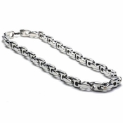 Benivie H-Shaped Link Chain 7mm Titanium Necklace