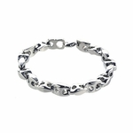 Benivie H-Shaped Titanium Link Bracelet