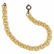 Diego Massimo Jewelry Bronze Collection Brown and Gold Two Tone Round Link Necklace