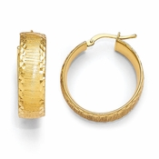 Diego Massimo Jewelry Bronze Collection Brushed Gold Tone Hoop Earrings