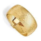 Diego Massimo Jewelry Bronze Collection Etched Gold Tone Cleopatra Bracelet