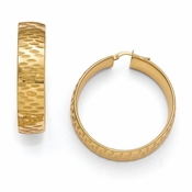 Diego Massimo Jewelry Bronze Collection Etched Gold Tone Hoop Earrings
