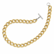 Diego Massimo Jewelry Bronze Collection Gold Tone Rhodium Plated Twisted Necklace