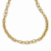 Diego Massimo Jewelry Bronze Collection Hammered Gold Tone Fancy Link Necklace