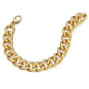 Diego Massimo Jewelry Bronze Collection Polished Gold Tone Curb Link Necklace