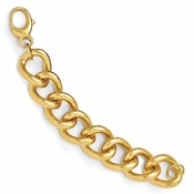 Diego Massimo Jewelry Bronze Collection Polished Gold Tone Large Curb Link Bracelet