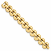 Diego Massimo Jewelry Bronze Collection Polished Gold Tone Stampato Bracelet