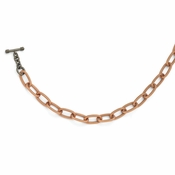 Diego Massimo Jewelry Bronze Collection Rose Tone Black Rhodium Plated Necklac
