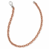 Diego Massimo Jewelry Bronze Collection Rose Tone Rhodium Plated Oval Link Necklace