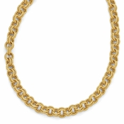 Diego Massimo Jewelry Bronze Collection Textured Gold Tone Double Link Necklace