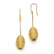 Diego Massimo Jewelry Bronze Collection Textured Gold Tone Hive Shaped Earrings