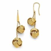 Diego Massimo Jewelry Bronze Collection Textured Gold Tone Knot Earrings