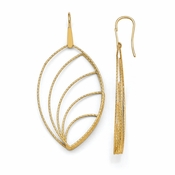 Diego Massimo Jewelry Bronze Collection Textured Gold Tone Leaf Dangle Earrings