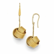 Diego Massimo Jewelry Bronze Collection Textured Gold Tone Love Knot Earrings