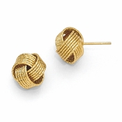 Diego Massimo Jewelry Bronze Collection Textured Gold Tone Love Knot Post Earrings