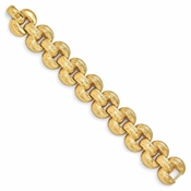 Diego Massimo Jewelry Bronze Collection Textured Gold Tone Stampato Bracelet