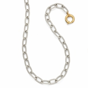 Diego Massimo Jewelry Bronze Collection Textured Rhodium Plated Gold Tone Necklace