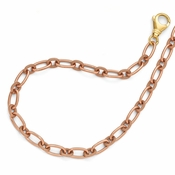Diego Massimo Jewelry Bronze Collection Textured Rose and Gold Two Tone Necklace