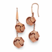 Diego Massimo Jewelry Bronze Collection Textured Rose Tone Knot Earrings