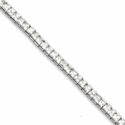 "Chisel 7.5"" Stainless Steel Cubic Zirconia Bracelet"