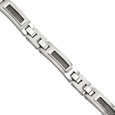Chisel Dual Finish Stainless Steel Bracelet