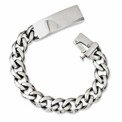 Chisel Polished Stainless Steel ID Bracelet