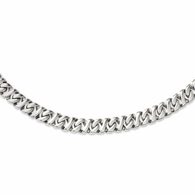 Chisel Polished Stainless Steel Link Necklace